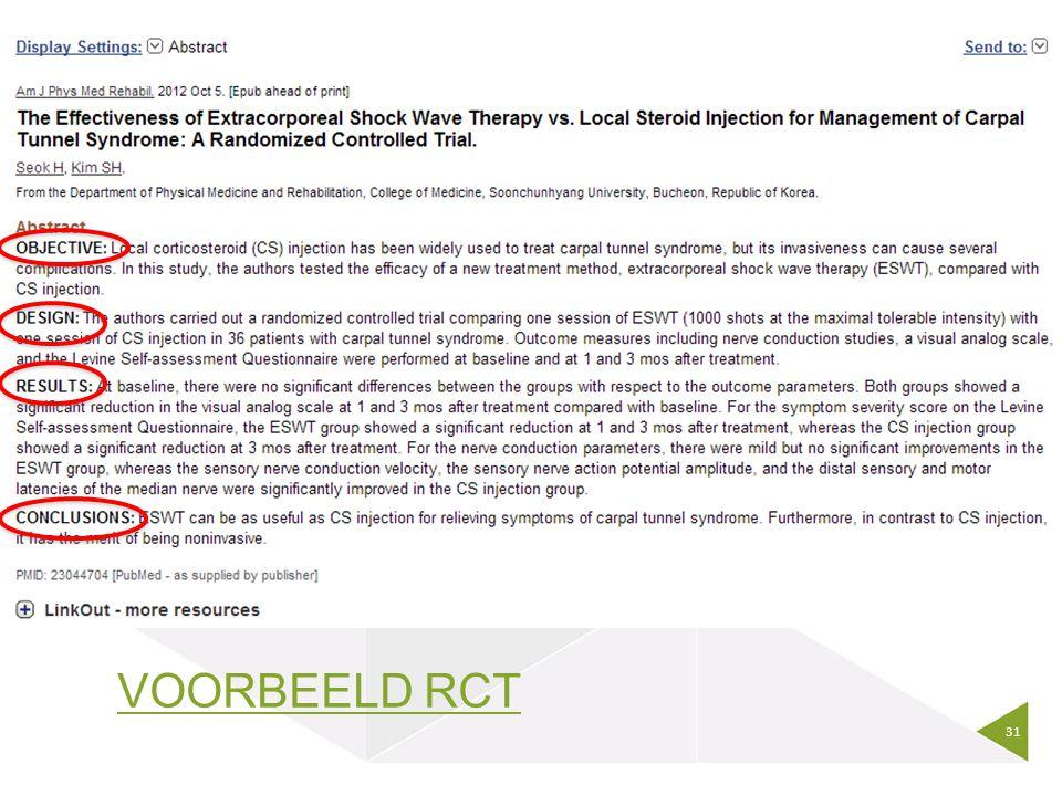 VOORBEELD RCT 31