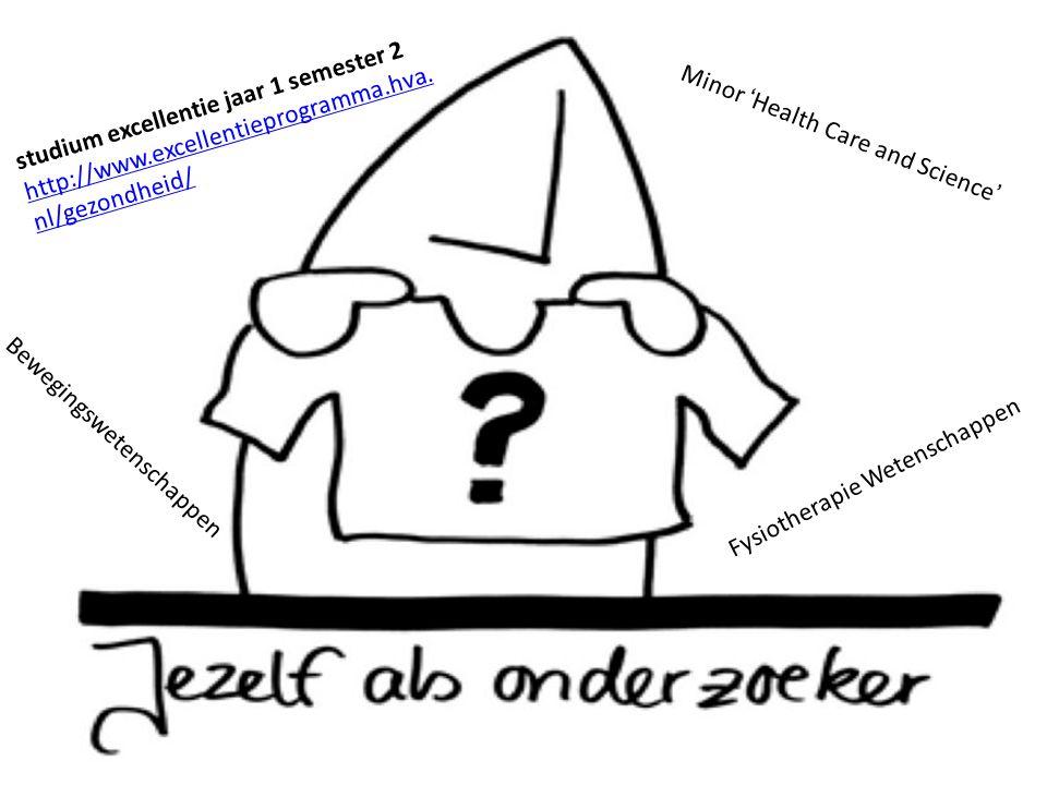 53 Afsluiting (1) studium excellentie jaar 1 semester 2 http://www.excellentieprogramma.hva. nl/gezondheid/http://www.excellentieprogramma.hva. nl/gez