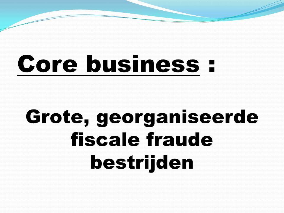 Core business : Grote, georganiseerde fiscale fraude bestrijden