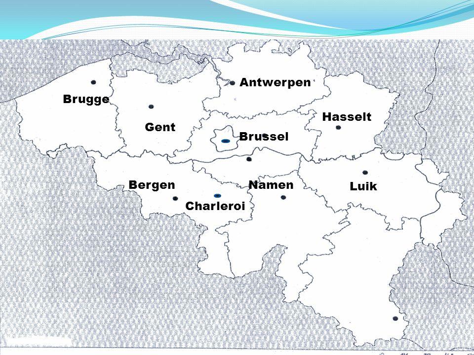 Brugge Gent Antwerpen Brussel BergenNamen Hasselt Luik Charleroi