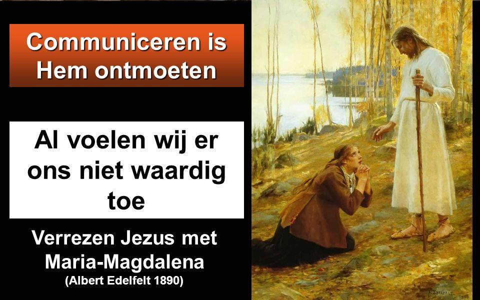 Jezus sprak daarop tot hen: 'Voorwaar, voorwaar, Ik zeg u: als gij het vlees van de Mensenzoon niet eet en zijn bloed niet drinkt, hebt gij het leven