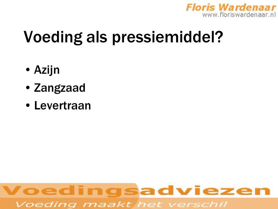Voeding als pressiemiddel? Azijn Zangzaad Levertraan