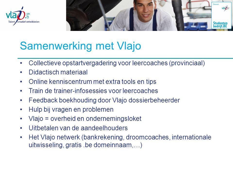 Samenwerking met Vlajo Collectieve opstartvergadering voor leercoaches (provinciaal) Didactisch materiaal Online kenniscentrum met extra tools en tips