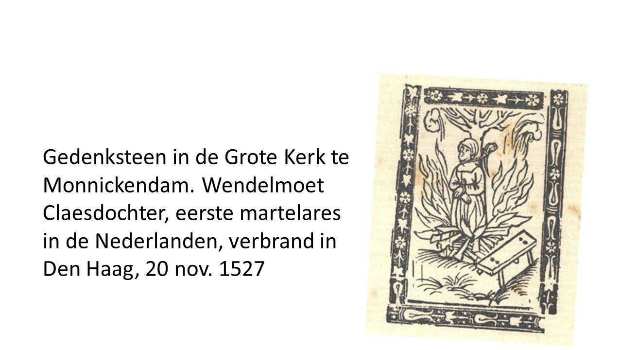 Gedenksteen in de Grote Kerk te Monnickendam.