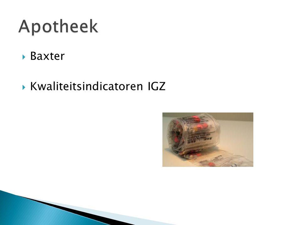  Baxter  Kwaliteitsindicatoren IGZ