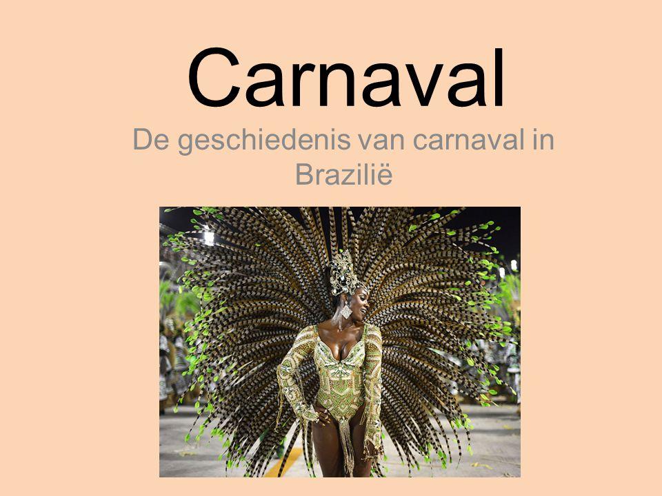Carnaval De geschiedenis van carnaval in Brazilië
