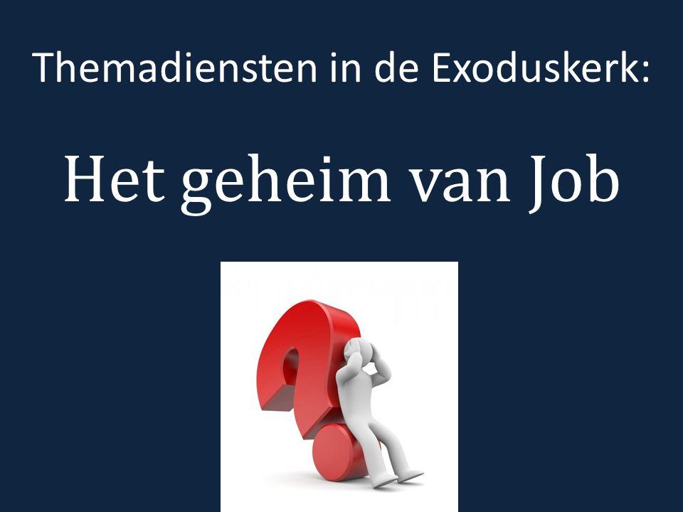 Jobs ontdekkingen: o hemels plot, werk van satan o troost o 'Ik ben klein.'