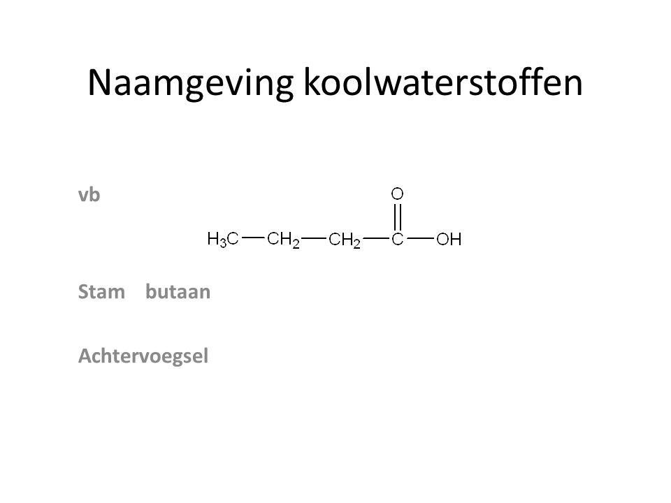 Esters Alcohol + zuur → Ester + water +→ + H 2 O Naamgevingalgemeen alkoxyalkanoaat Stamzuur