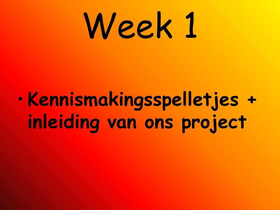 Week 1 Kennismakingsspelletjes + inleiding van ons project