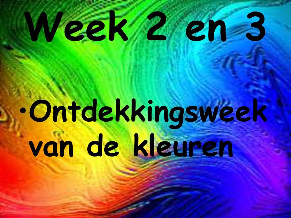 Week 2 en 3 Ontdekkingsweek van de kleuren
