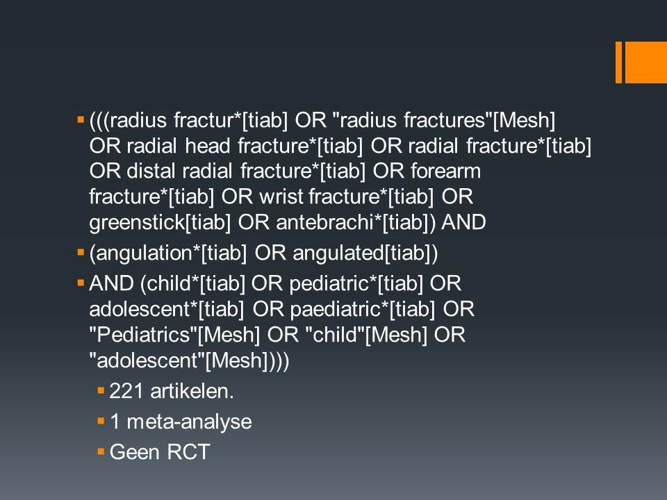 Acceptance of angulation in the non-operative treatment of paediatric forearm fractures Ploegmakers JJ, Verheyen CC.