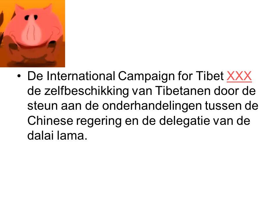 De International Campaign for Tibet XXX de zelfbeschikking van Tibetanen door de steun aan de onderhandelingen tussen de Chinese regering en de delega