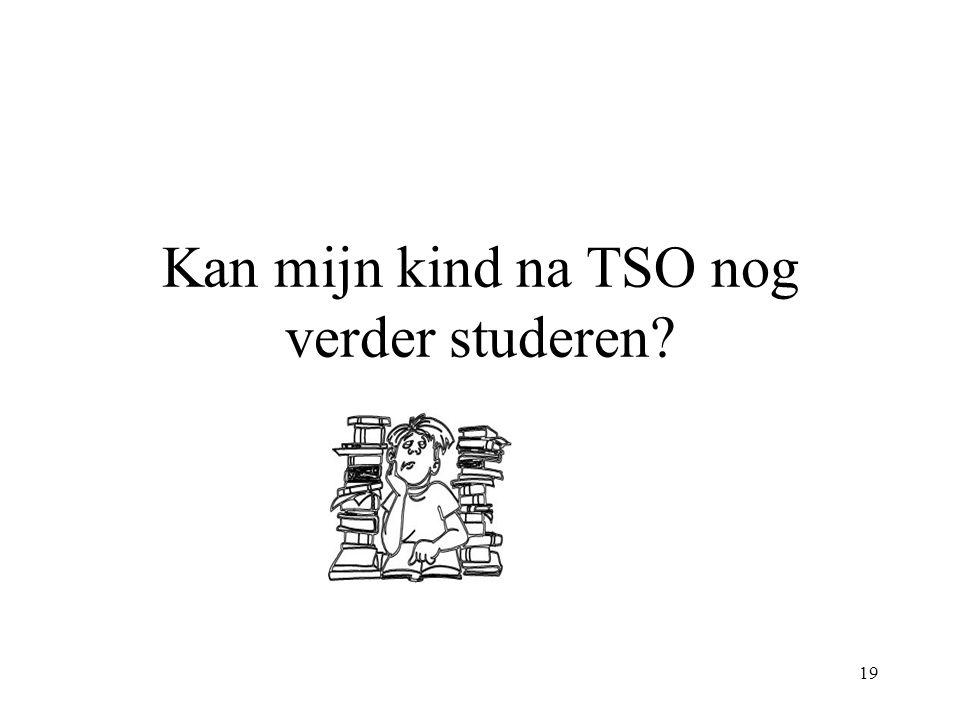 19 Kan mijn kind na TSO nog verder studeren?