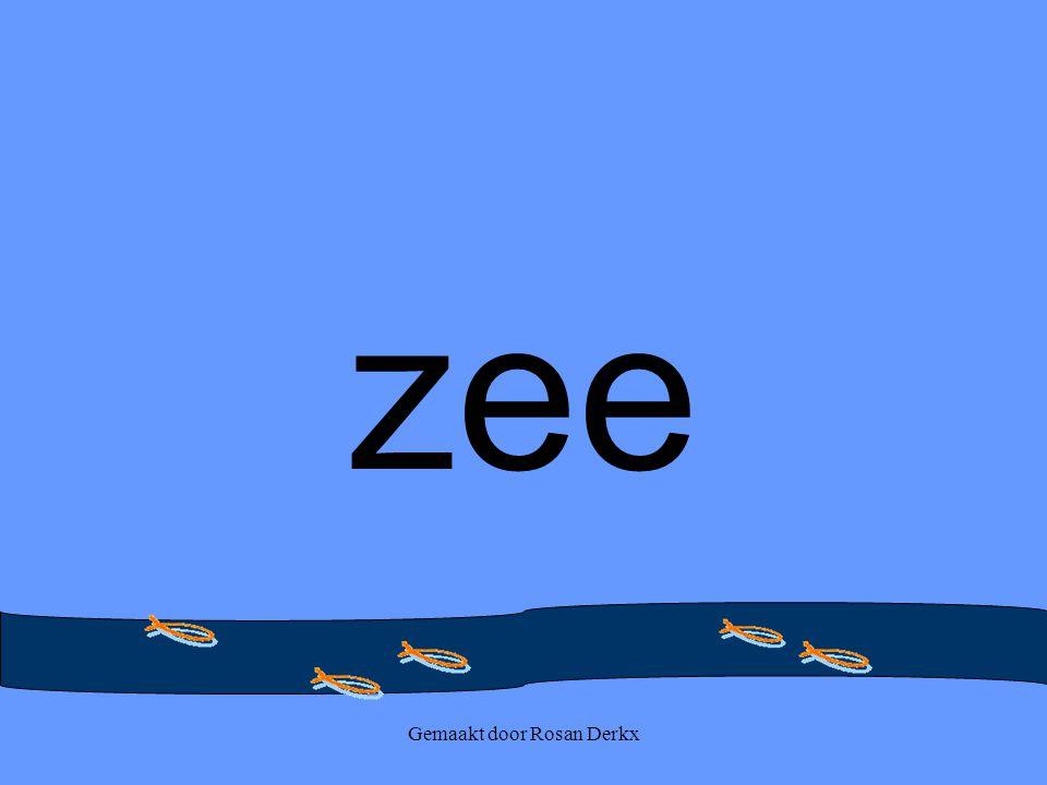Gemaakt door Rosan Derkx zee