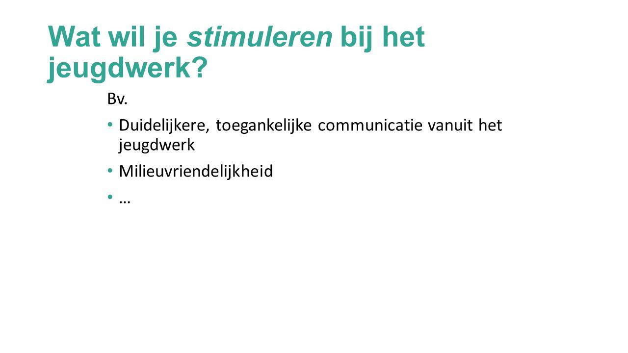 Jeugdwerk zoekt partner zoekt jeugdwerk Wat hebben we als jeugdwerkinitiatief te bieden.