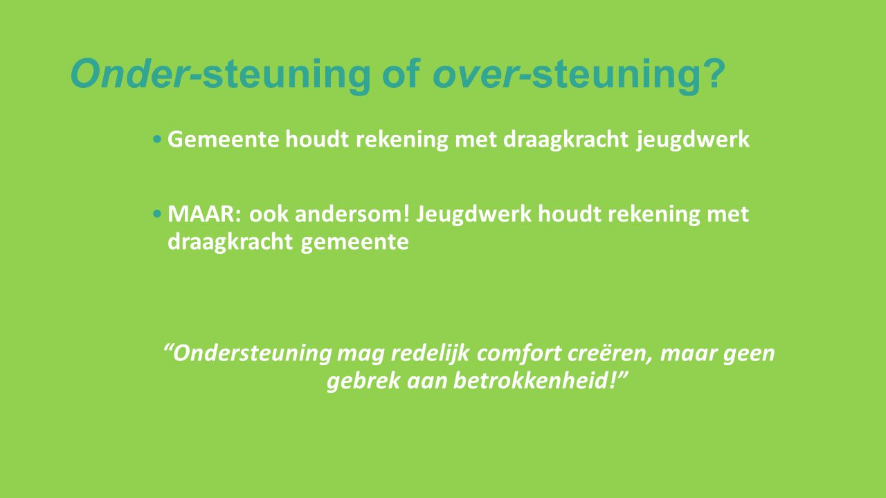 Onder-steuning of over-steuning.