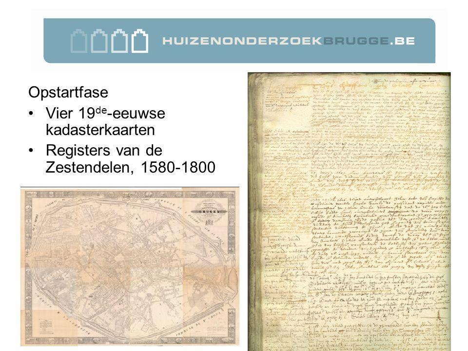 Opstartfase Vier 19 de -eeuwse kadasterkaarten Registers van de Zestendelen, 1580-1800