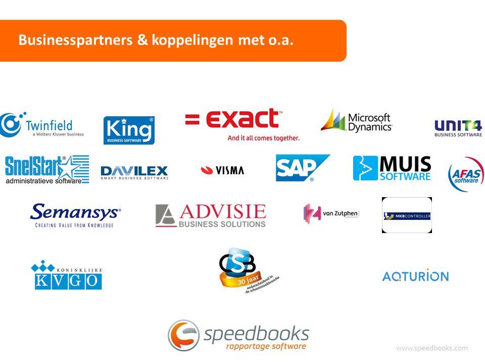 Ervaringen www.speedbooks.com Vele soorten rapportage software beschikbaar Vaak beschikbaar in het financiële pakket Zeer uitgebreid, alles kan… Flexibiliteit niet altijd overal even duidelijk Lange inrichtingstrajecten Vaak kostbare aanschaf / implementatie IEDEREEN BLIJFT EXCEL GEBRUIKEN!!!
