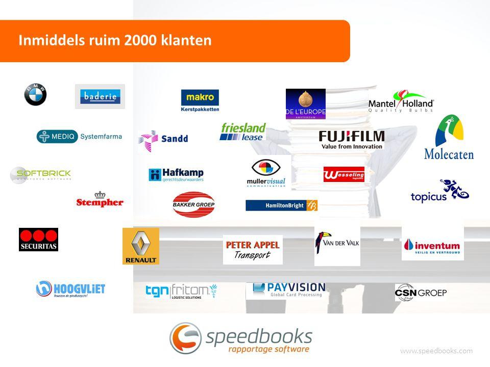 Inmiddels ruim 2000 klanten www.speedbooks.com