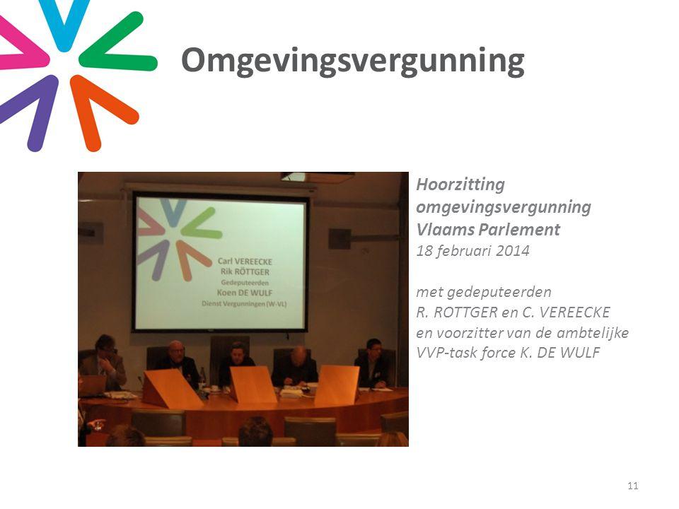 Omgevingsvergunning 11 Hoorzitting omgevingsvergunning Vlaams Parlement 18 februari 2014 met gedeputeerden R.