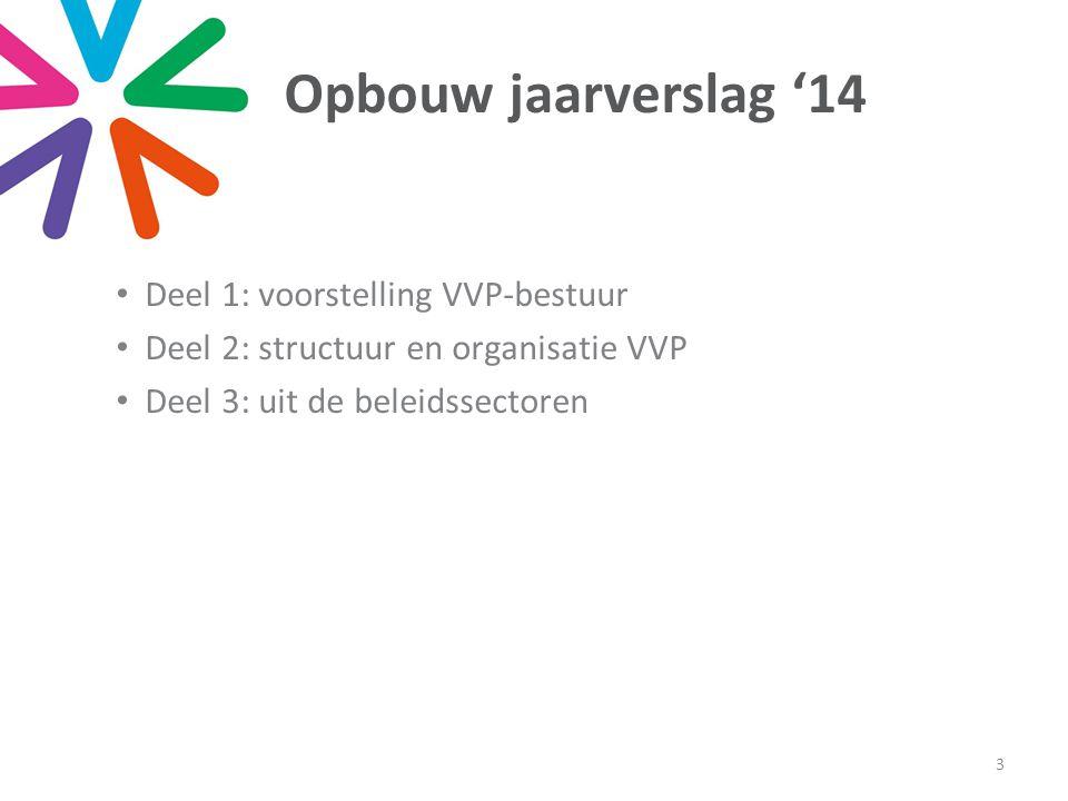 Uit de beleidssectoren Eerste helft '14: project 'interne staatshervorming' Scharnier: gevolgen Vlaamse parlementsverkiezingen Tweede helft '14: project 'afslanking provincies' 4