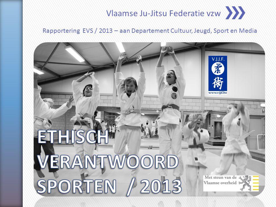 Vlaamse Ju-Jitsu Federatie vzw Rapportering EVS / 2013 – aan Departement Cultuur, Jeugd, Sport en Media