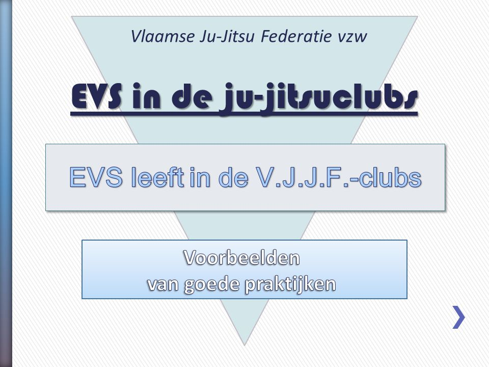 EVS in de ju-jitsuclubs Vlaamse Ju-Jitsu Federatie vzw
