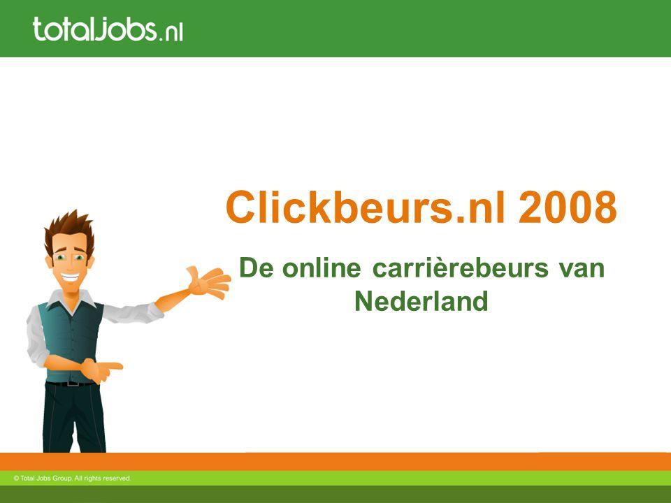 Clickbeurs.nl 2008 De online carrièrebeurs van Nederland