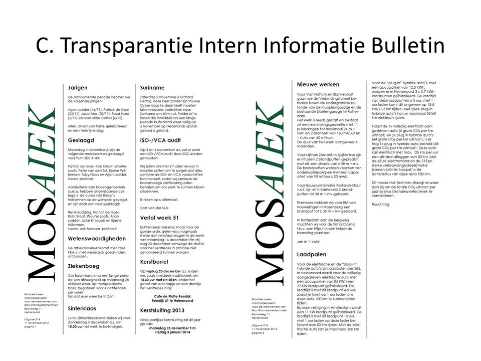 C. Transparantie Intern Informatie Bulletin