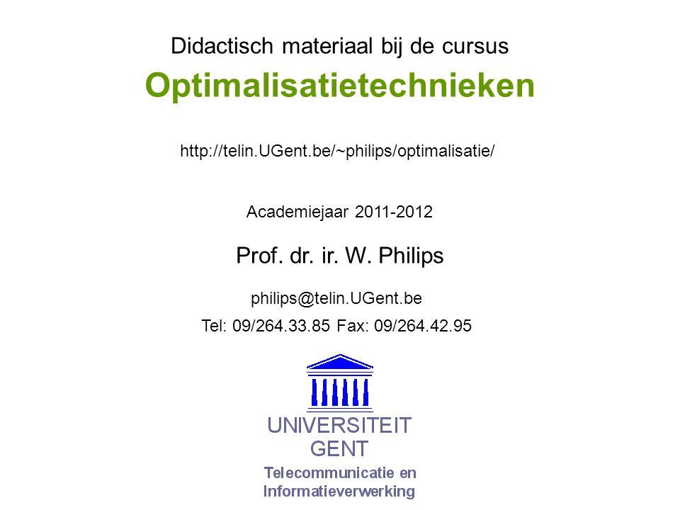 © W.Philips, Universiteit Gent, 1998-2012versie: 13/3/2012 05a.