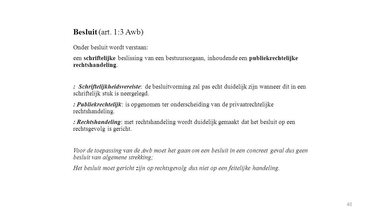 Besluit (art.