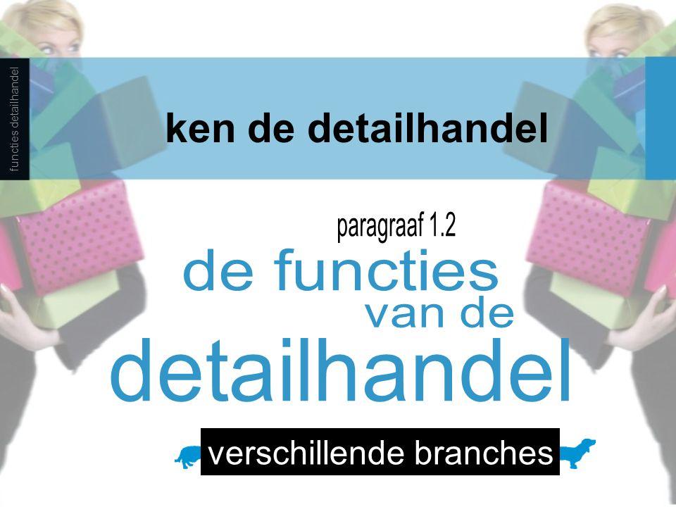 ken de detailhandel functies detailhandel verschillende branches