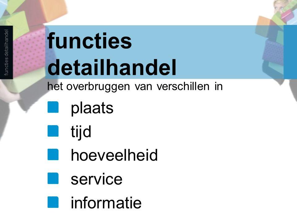 het overbruggen van verschillen in plaats tijd hoeveelheid service informatie functies detailhandel