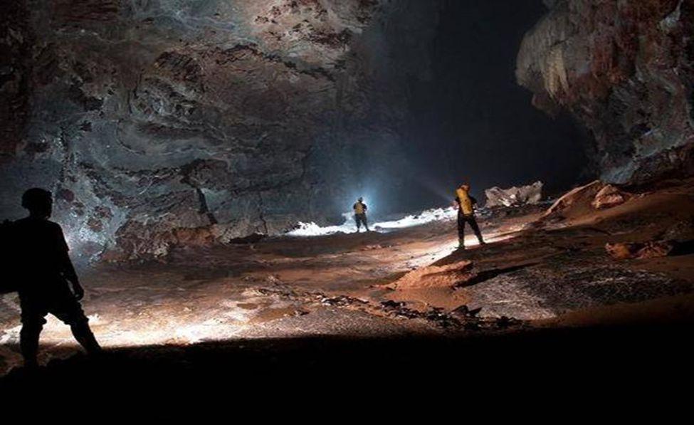 Een « berg » gemaakt door stalactieten
