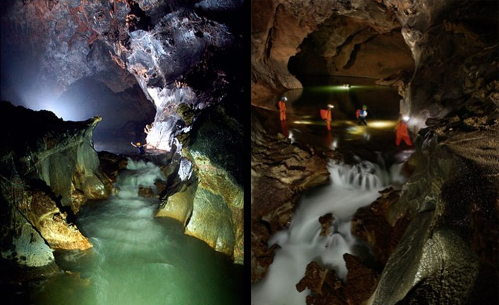 Rivier in de grot En (vietnamees: Accrochez Fr)