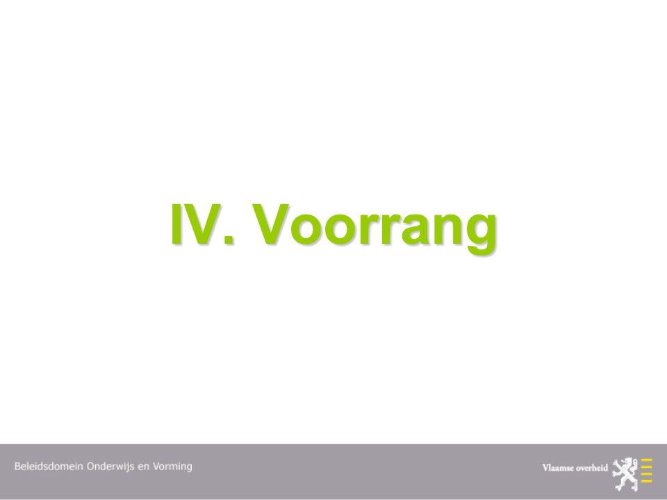 IV. Voorrang