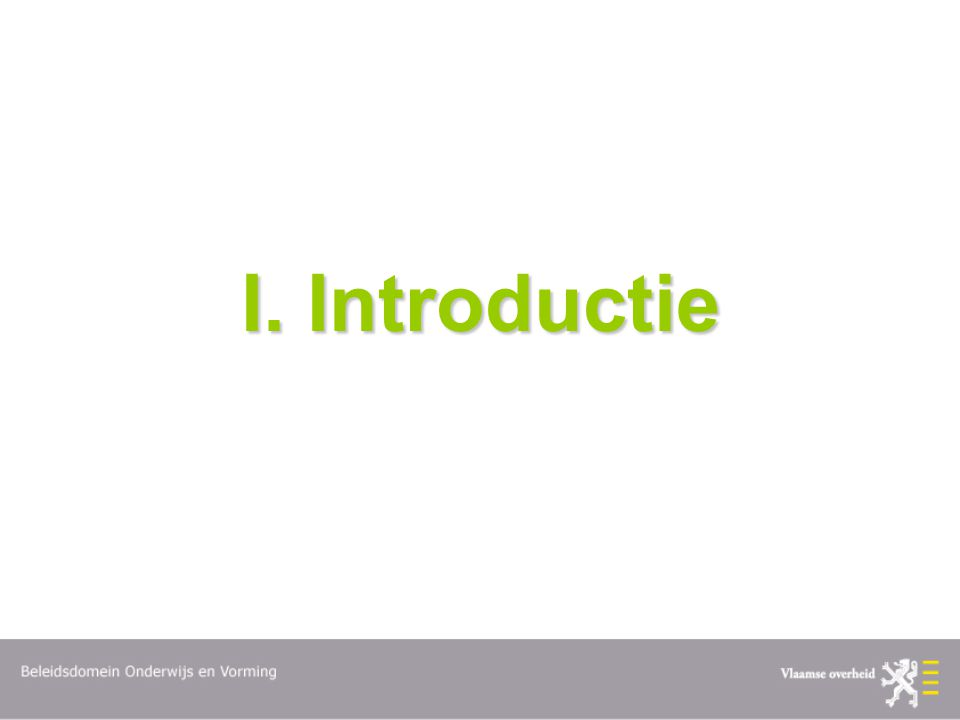 I. Introductie