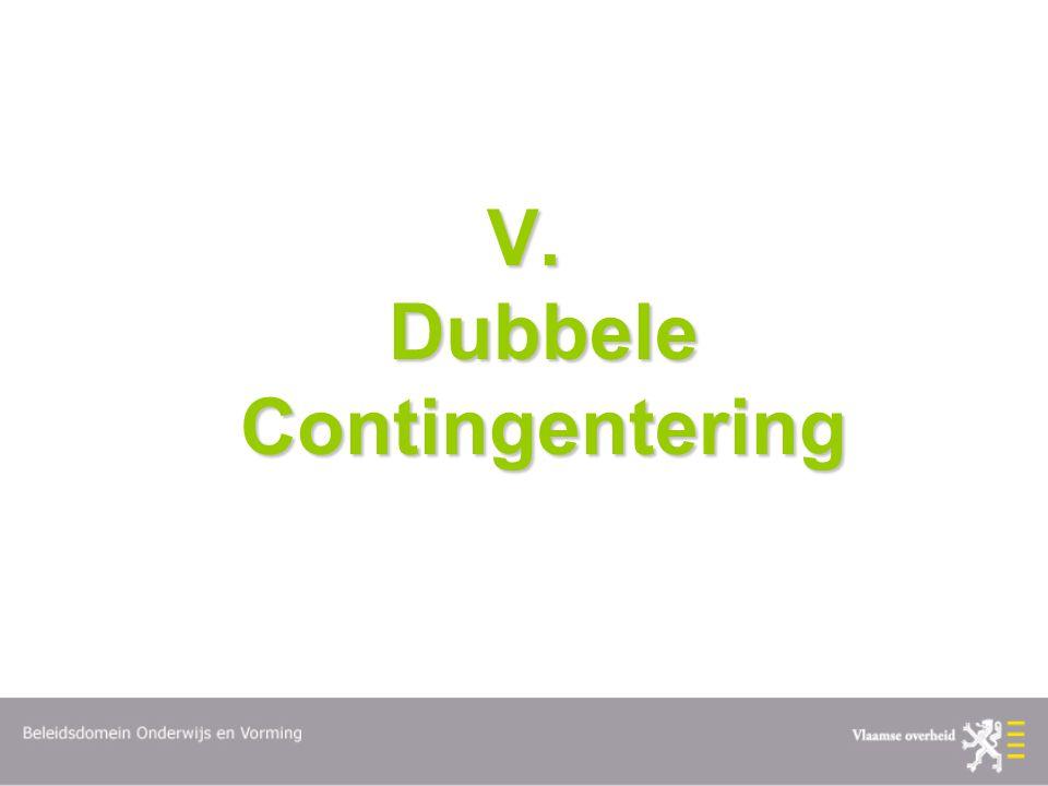V. Dubbele Contingentering