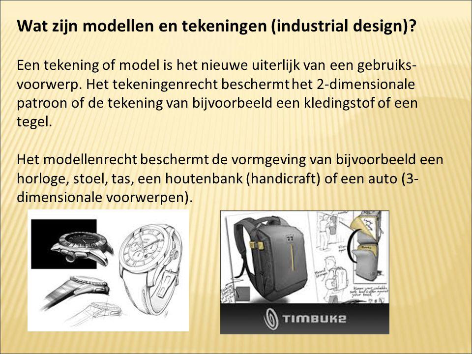 Wat zijn modellen en tekeningen (industrial design)? Een tekening of model is het nieuwe uiterlijk van een gebruiks- voorwerp. Het tekeningenrecht bes