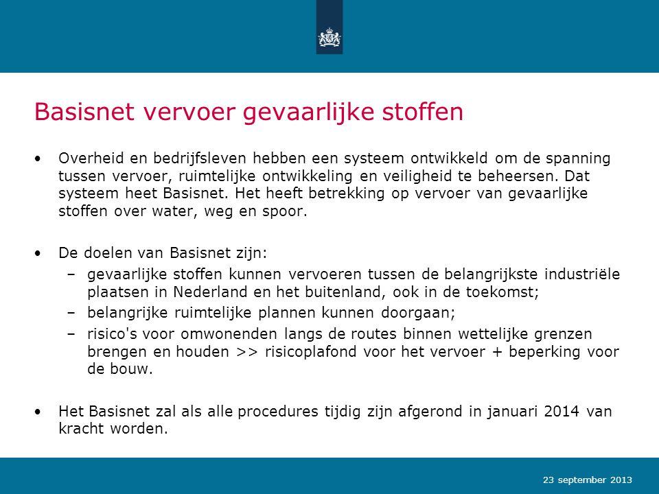 Vervoer van gevaarlijke stoffen in Nederland Verdeling vervoer gevaarlijke stoffen in Nederland EU: vrij vervoer van goederen 23 september 2013
