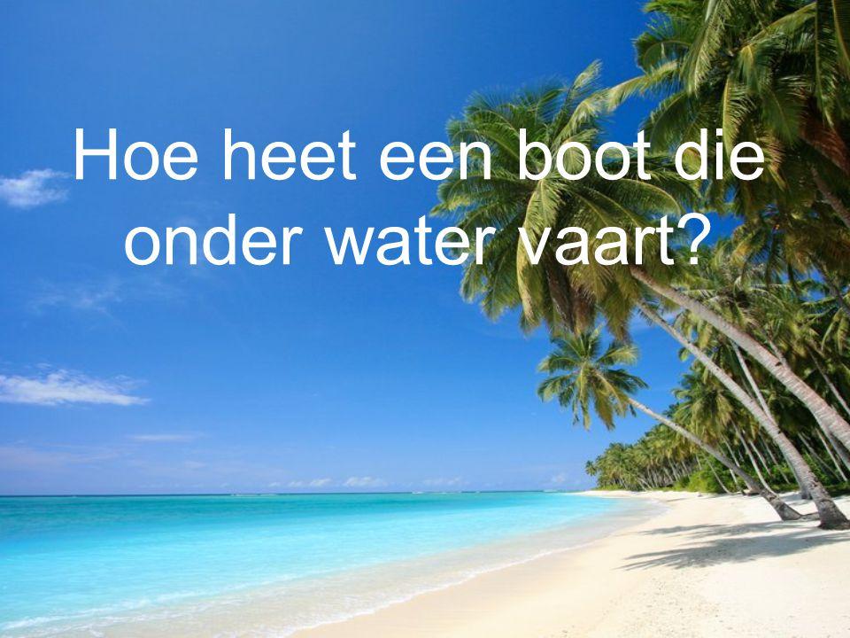 Hoe heet een boot die onder water vaart?