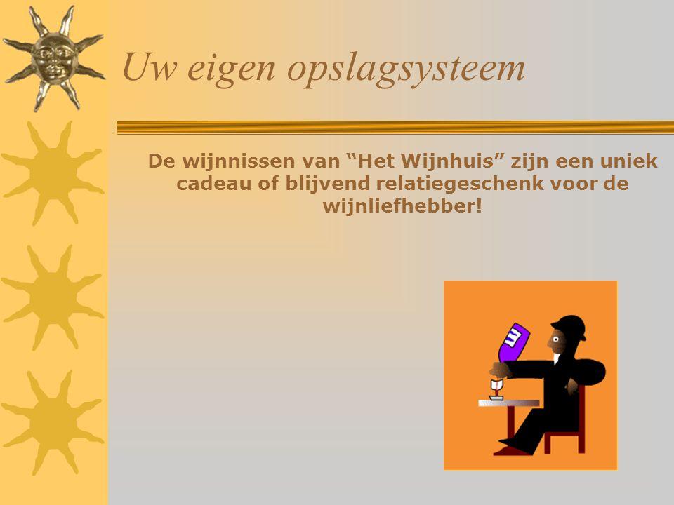 Uw eigen opslagsysteem De wijnnissen van Het Wijnhuis zijn een uniek cadeau of blijvend relatiegeschenk voor de wijnliefhebber!