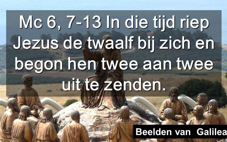 Nadat Hij door de zijnen verworpen werd (vorige zondag) maakt Jezus van de twaalf zijn volk en Hij zendt hen uit om te prediken Volkeren van Galilea