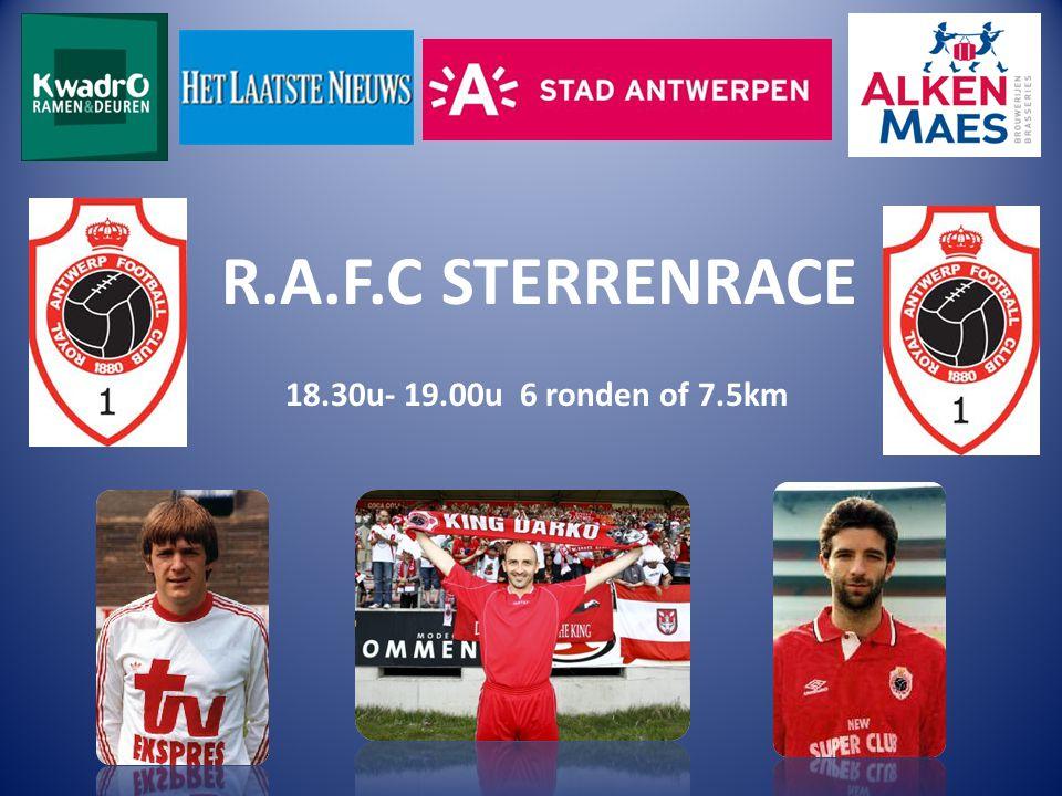 R.A.F.C STERRENRACE 18.30u- 19.00u 6 ronden of 7.5km