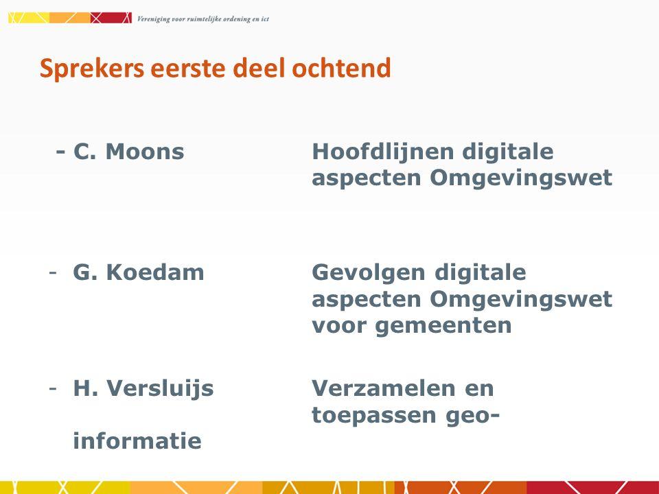 - C. MoonsHoofdlijnen digitale aspecten Omgevingswet -G.
