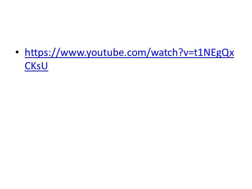 https://www.youtube.com/watch?v=t1NEgQx CKsU https://www.youtube.com/watch?v=t1NEgQx CKsU