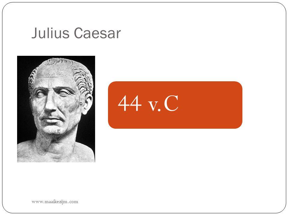 Julius Caesar 44 v.C www.maaikezijm.com