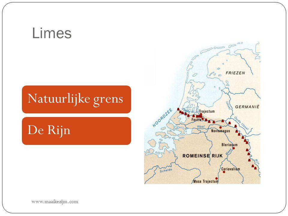 Limes www.maaikezijm.com Natuurlijke grensDe Rijn