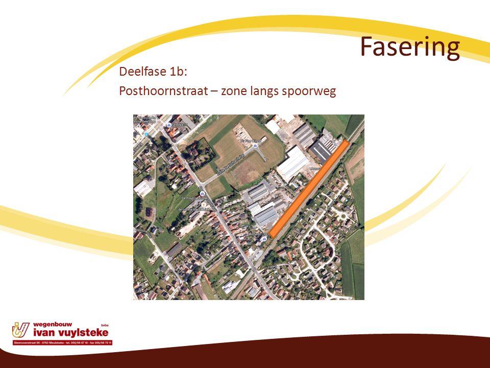 Fasering Deelfase 1b: Posthoornstraat – zone langs spoorweg