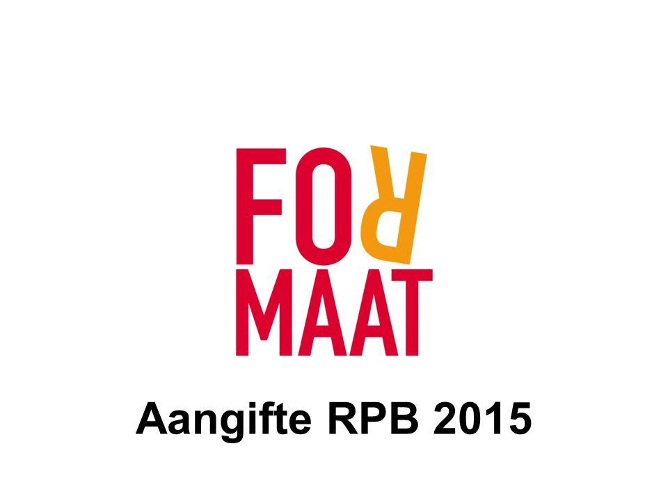 www.formaat.be BIZTAX RPB = RECHTSPERSONENBELASTING